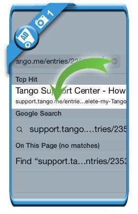 دیلیت اکانت تانگو Tango