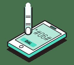 کد شماره گیری سریال نامبر اندروید و آیفون و گوشی ساده